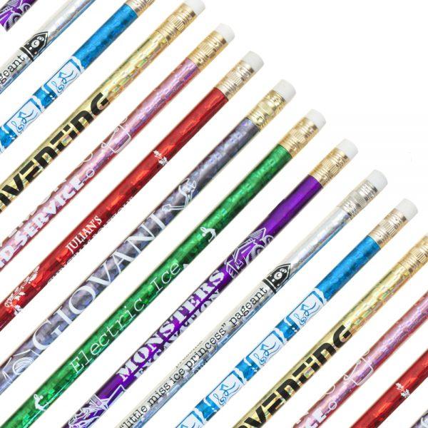 Foil Wrapped Pencils 1-0