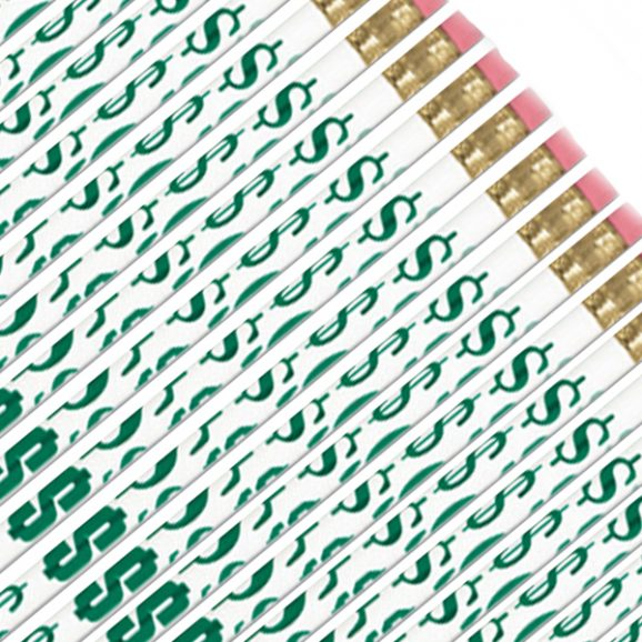 Dollar Sign Pencils-0