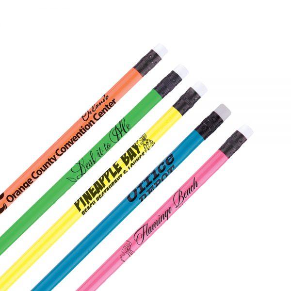 Budget Neon Pencils w/ White Eraser-0